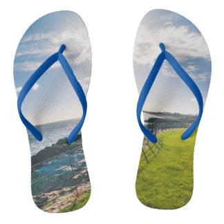 Rocky beach in Ireland (Greystones) Flip Flops