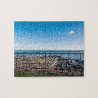 Rocky beach in Ireland (Greystones) Jigsaw Puzzle