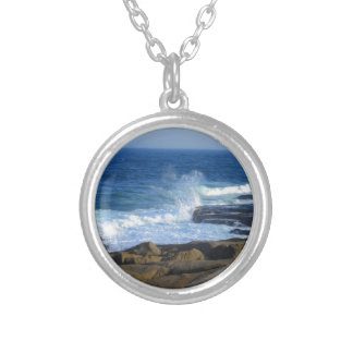 Rocky Cape Neddick Coast Silver Plated Necklace