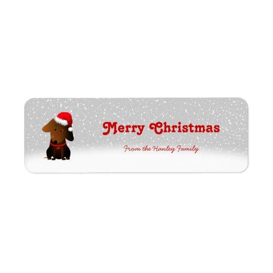 Rocky Christmas Gift Tags Return Address Label