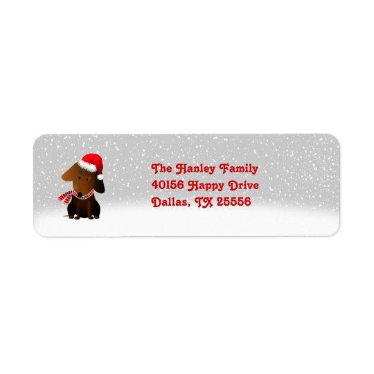 Rocky Christmas Return Address Label