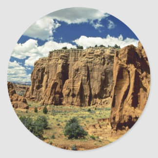 Rocky cliffs, Red Canyon, Utah rock formation Round Sticker