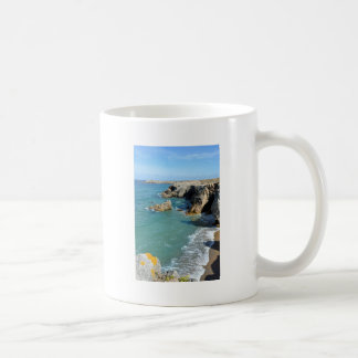 Rocky coast at Quiberon peninsula in France Coffee Mug