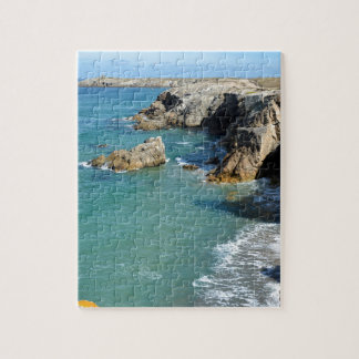 Rocky coast at Quiberon peninsula in France Jigsaw Puzzle