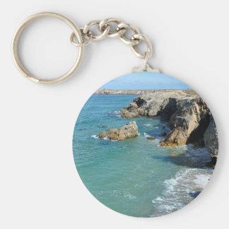 Rocky coast at Quiberon peninsula in France Keychain