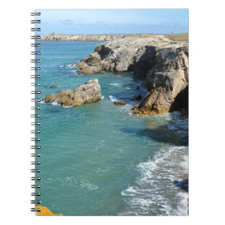 Rocky coast at Quiberon peninsula in France Notebook