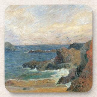 Rocky Coast by Paul Gauguin, Vintage Impressionism Coaster