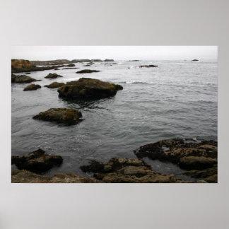 Rocky coast poster