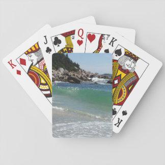 rocky coastline ocean surf playing cards