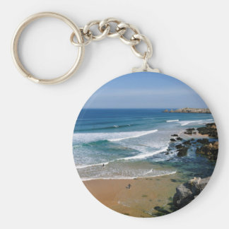 Rocky coastline of Quiberon in France Keychain
