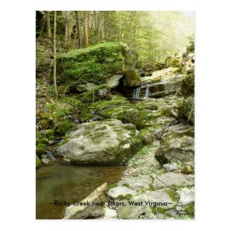 Rocky creek near Elkins West Virginia Postcard