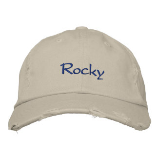 Rocky Embroidered Hat
