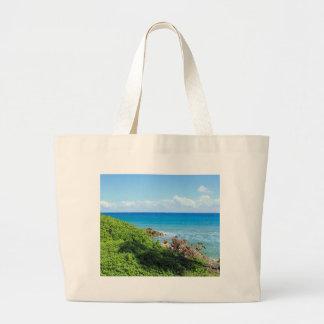 rocky-foliage-coast-deerfield-beach-4s6490 large tote bag