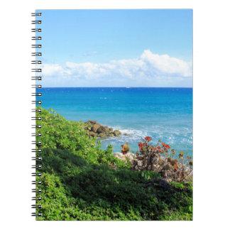 rocky-foliage-coast-deerfield-beach-4s6490 spiral notebook
