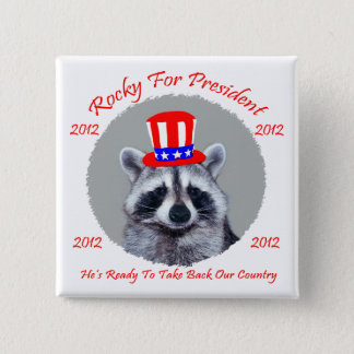 Rocky For President Square Botton 2 Inch Square Button