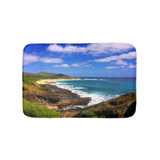 Rocky Hawaiian Tropical Island Bath Mat