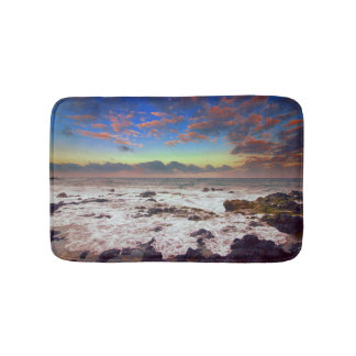 Rocky Island Beach Sunset Bath Mat