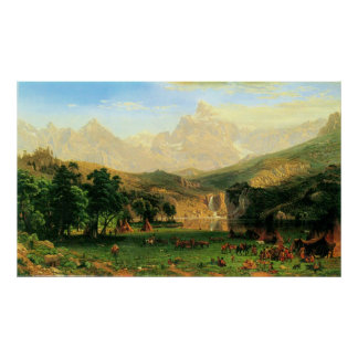 Rocky Montains at Lander's Peak by Bierstadt Poster