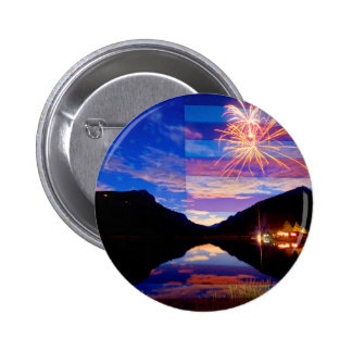 Rocky Mountain American Fireworks Show 2 Inch Round Button