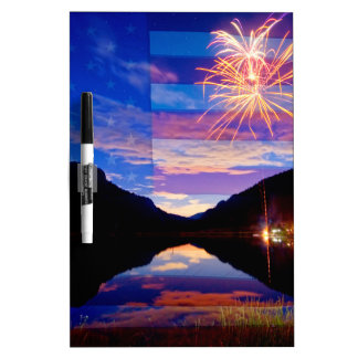 Rocky Mountain American Fireworks Show Dry Erase Boards