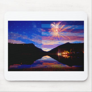 Rocky Mountain American Fireworks Show Mouse Pad