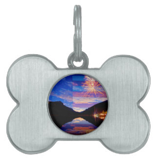 Rocky Mountain American Fireworks Show Pet Name Tags