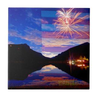 Rocky Mountain American Fireworks Show Tiles