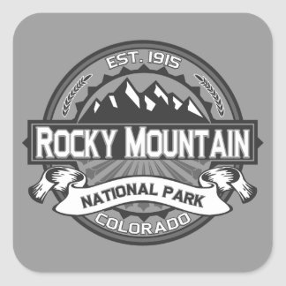 Rocky Mountain Ansel Adams Square Sticker
