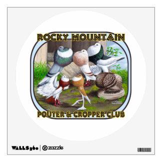 Rocky Mountain Club Logo Wall Sticker