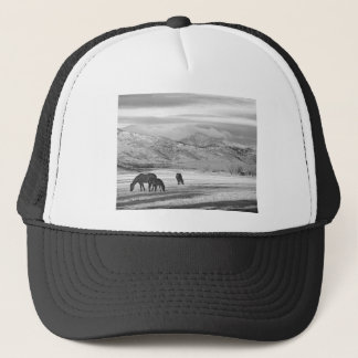 Rocky Mountain Colorado Country Morning BW Trucker Hat