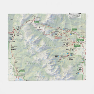 Rocky Mountain (Colorado) map fleece blanket