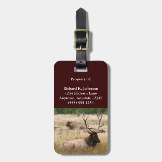 Rocky Mountain Elk Luggage Tag