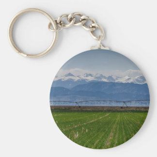 Rocky Mountain Farming View Keychain