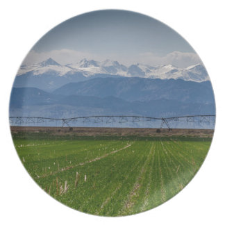 Rocky Mountain Farming View Plate