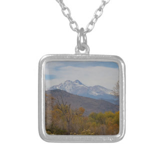 Rocky Mountain Foothills View Silver Plated Necklace