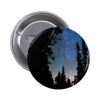 Rocky Mountain Forest Night 2 Inch Round Button