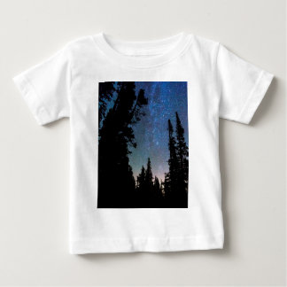 Rocky Mountain Forest Night Baby T-Shirt