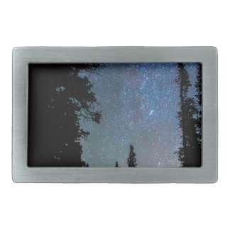 Rocky Mountain Forest Night Belt Buckles
