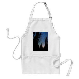 Rocky Mountain Forest Night Standard Apron