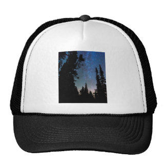 Rocky Mountain Forest Night Trucker Hat