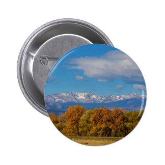 Rocky Mountain Front Range Colorful View 2 Inch Round Button