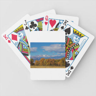 Rocky Mountain Front Range Colorful View Bicycle Playing Cards
