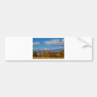 Rocky Mountain Front Range Colorful View Bumper Sticker