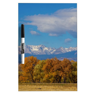 Rocky Mountain Front Range Colorful View Dry Erase Board