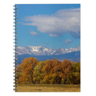 Rocky Mountain Front Range Colorful View Notebook