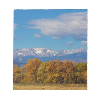Rocky Mountain Front Range Colorful View Notepad