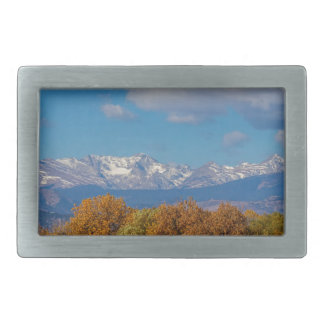 Rocky Mountain Front Range Colorful View Rectangular Belt Buckles