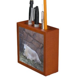 Rocky Mountain Goat Desk Organizer