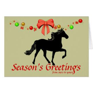 Rocky Mountain Horse Silhouette Christmas Card