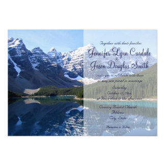 Rocky Mountain Lake Country Wedding Invitations